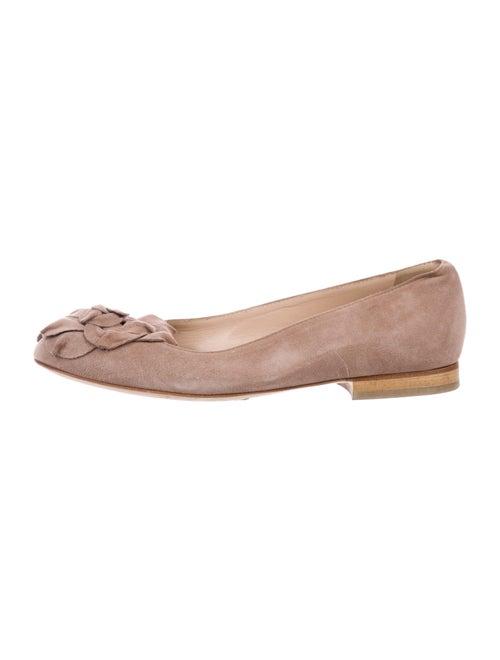 Manolo Blahnik Suede Ballet Flats