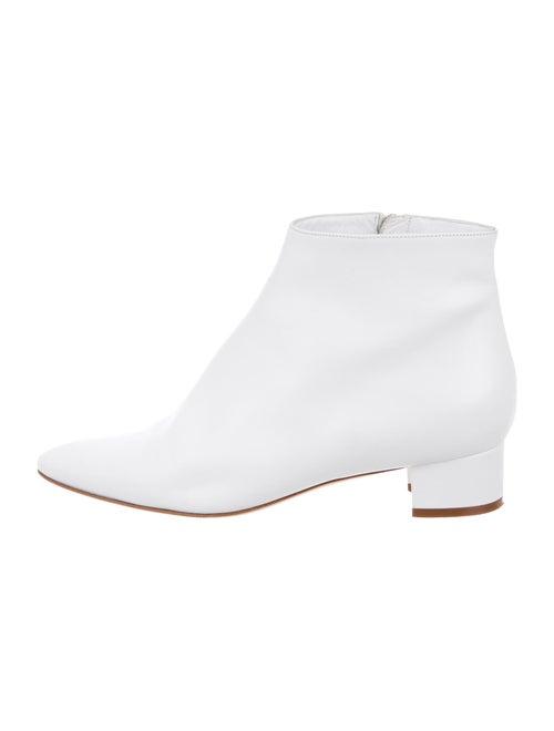 Manolo Blahnik Leather Boots White