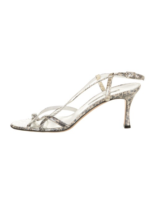 Manolo Blahnik Snakeskin Animal Print Sandals