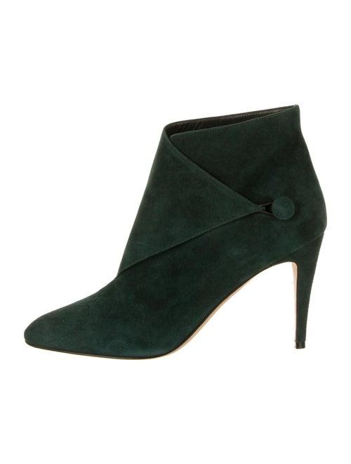 Manolo Blahnik Suede Boots Green
