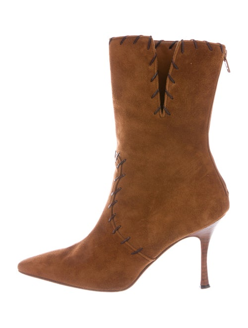 Manolo Blahnik 2005 Lace-Up Boots Brown