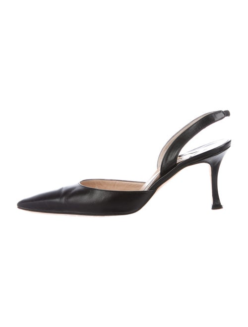 Manolo Blahnik Slingback Leather Slingback Pumps B