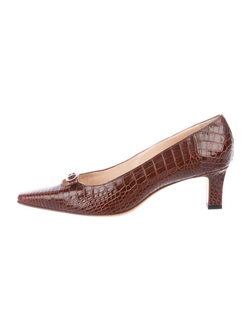 Manolo Blahnik Crocodile Pumps