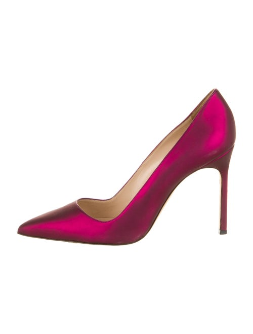 Manolo Blahnik Leather Pumps Purple