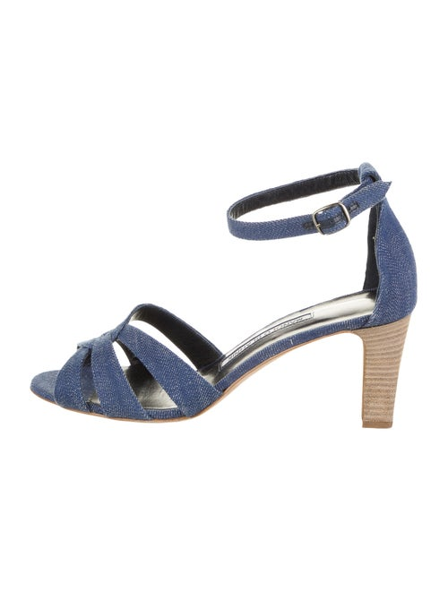Manolo Blahnik Sandals Blue