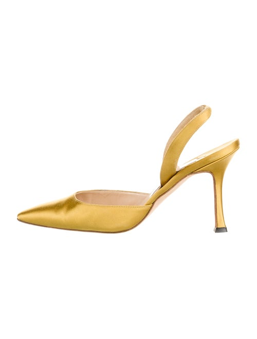 Manolo Blahnik Slingback Pumps Yellow