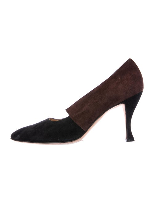 Manolo Blahnik Suede Pumps Black