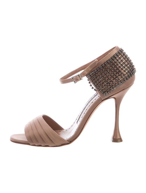 Manolo Blahnik Crystal Embellishments Sandals