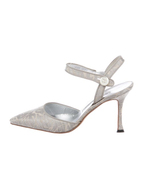 Manolo Blahnik Pumps Metallic