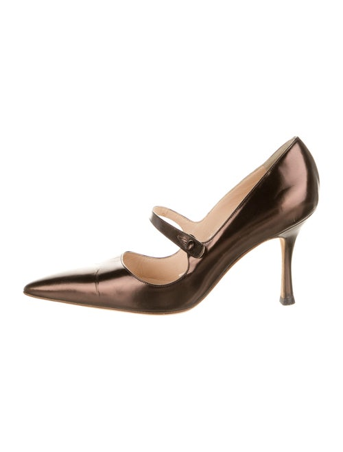 Manolo Blahnik Leather Pumps Brown