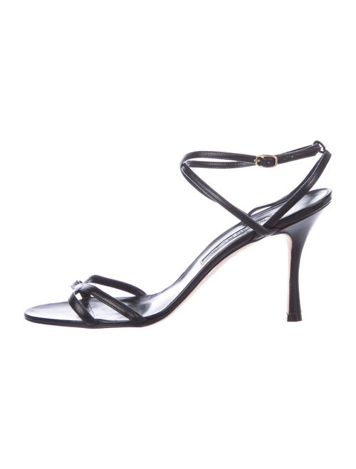 Manolo Blahnik Leather Sandals Black