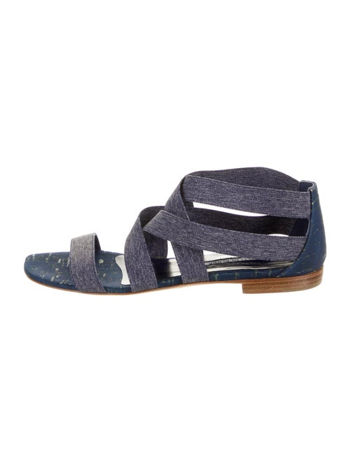 Manolo Blahnik Gladiator Sandals Blue