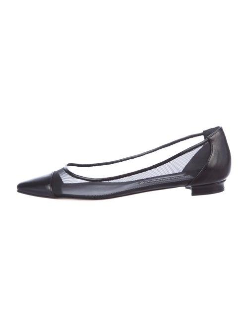 Manolo Blahnik Ballet Flats Black
