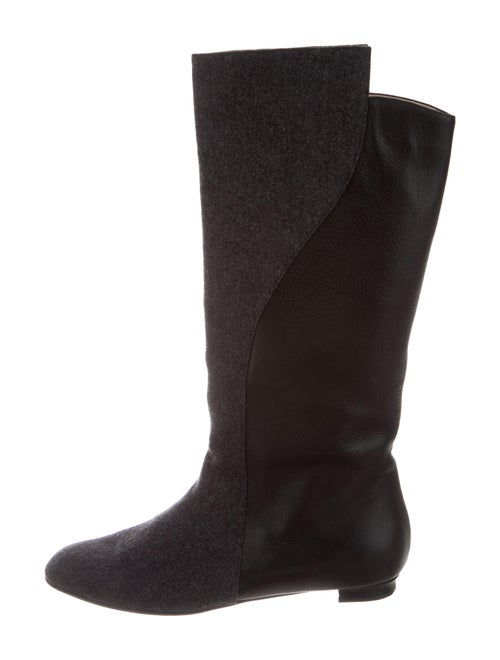 Manolo Blahnik Riding Boots Black