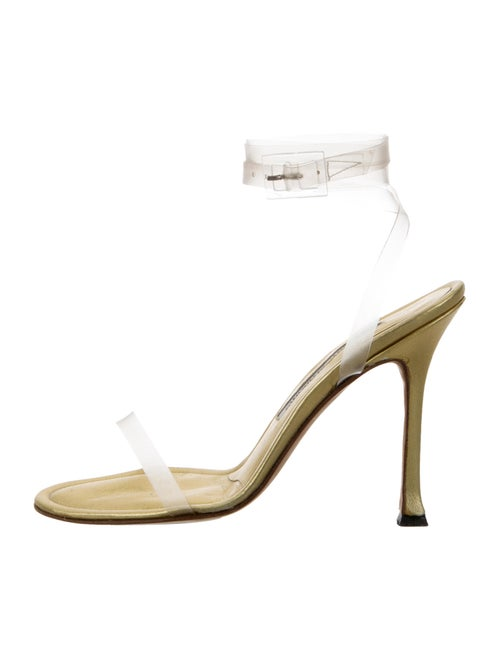 Manolo Blahnik Sandals Gold