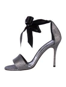 Manolo Blahnik T-Strap Sandals