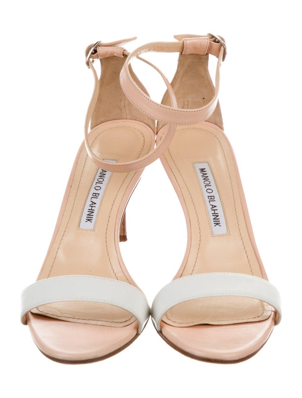Manolo Blahnik Leather Sandals - image 3