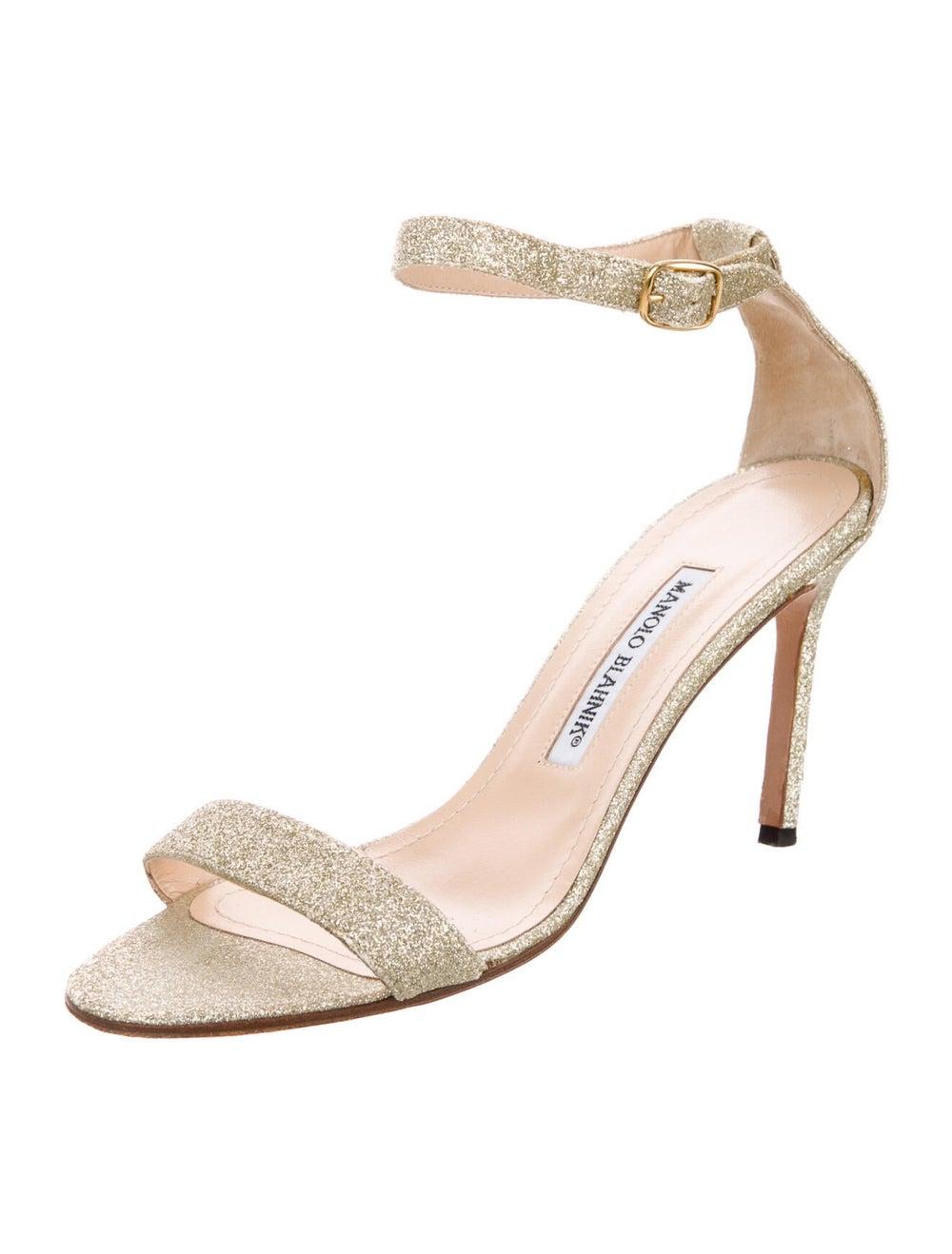 Manolo Blahnik Sandals Gold - image 2