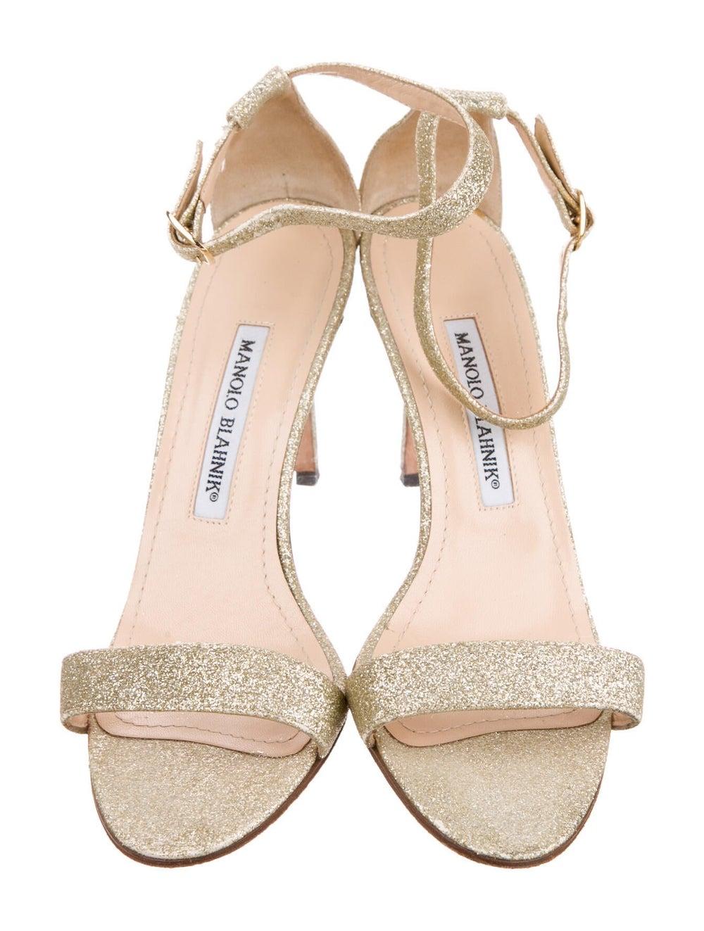 Manolo Blahnik Sandals Gold - image 3