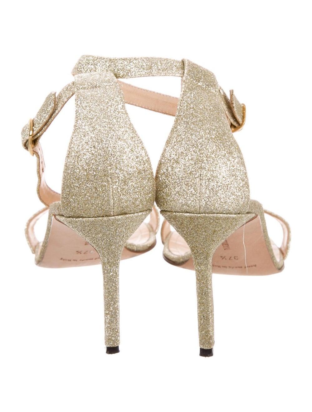 Manolo Blahnik Sandals Gold - image 4