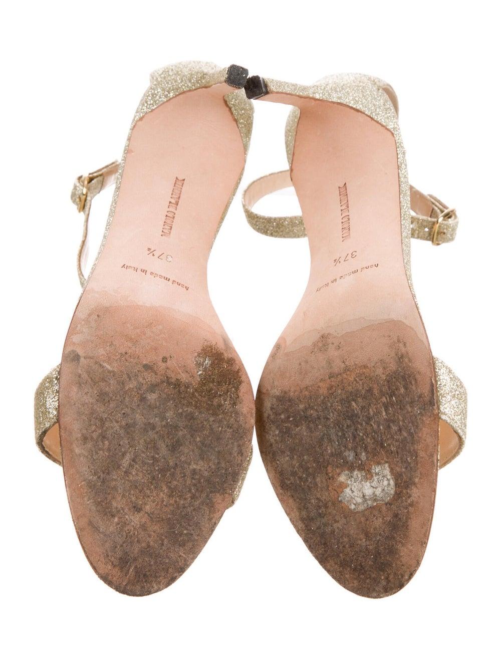 Manolo Blahnik Sandals Gold - image 5