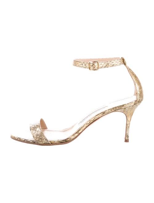 Manolo Blahnik Leather Sandals Gold