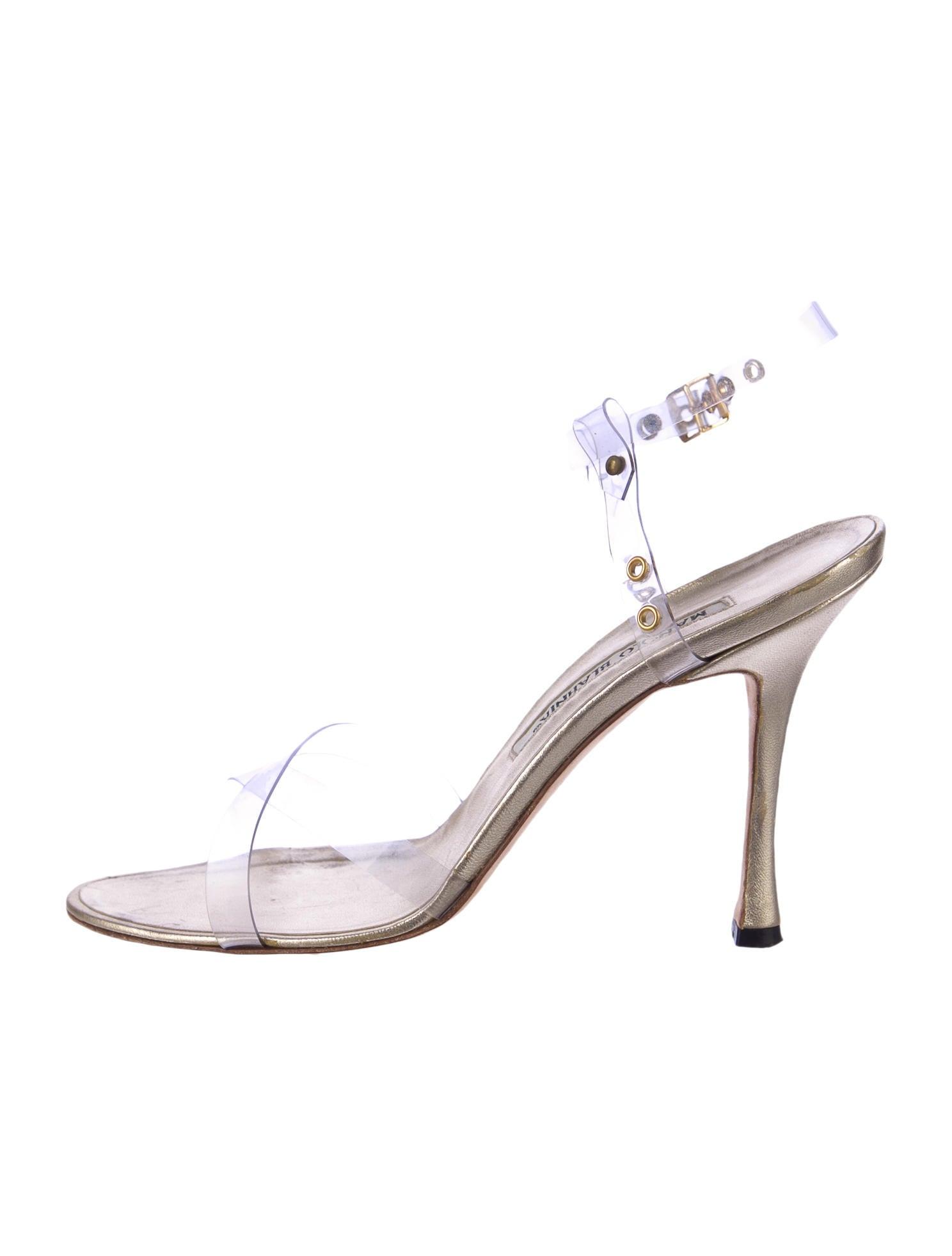 manolo blahnik clear heels