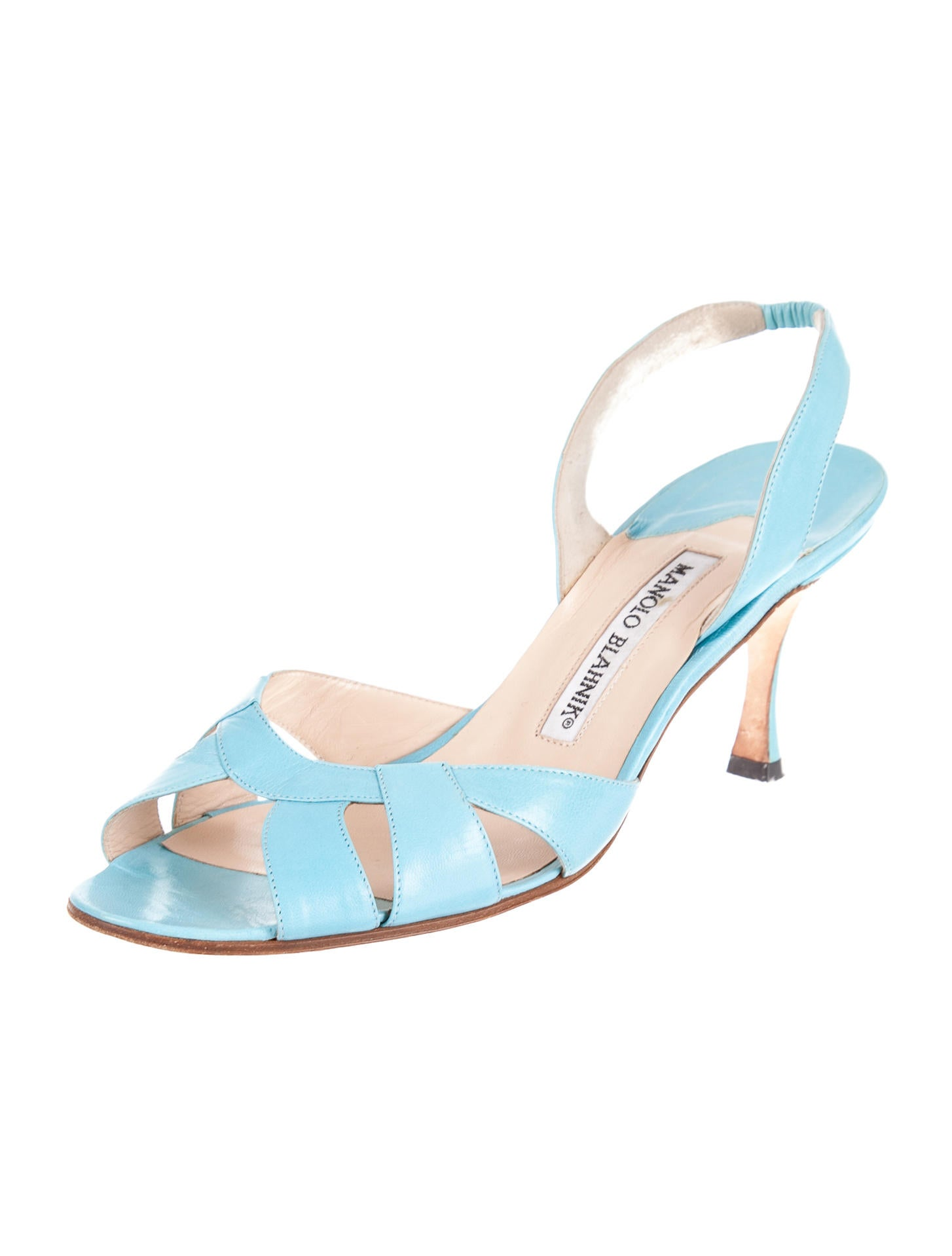 Manolo blahnik sandals shoes moo32168 the realreal for Shoes by manolo blahnik