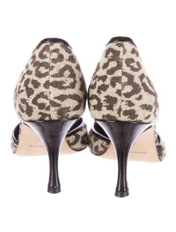 Leopard Print d'Orsay Pumps