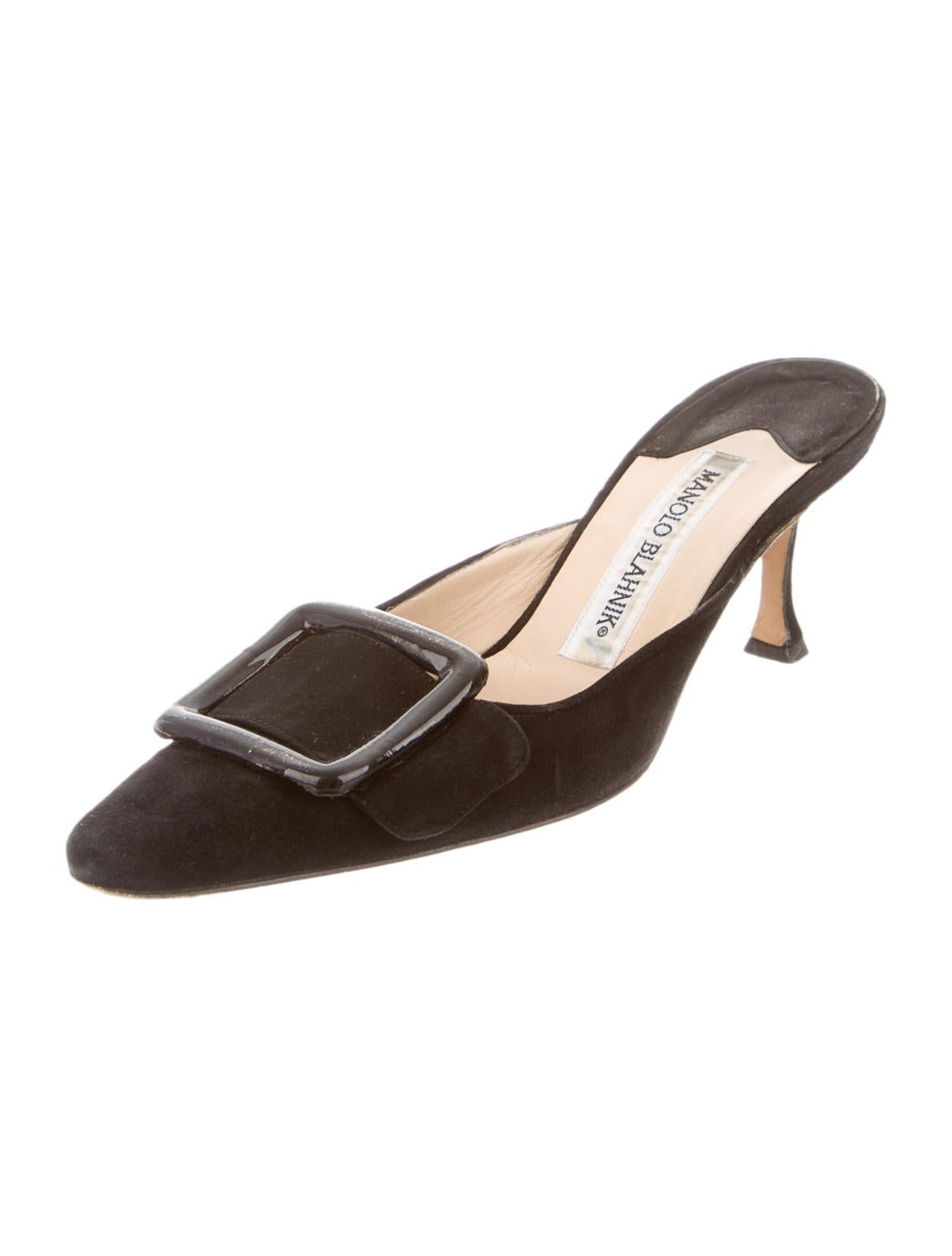 Manolo blahnik mules shoes moo37488 the realreal for Shoes by manolo blahnik