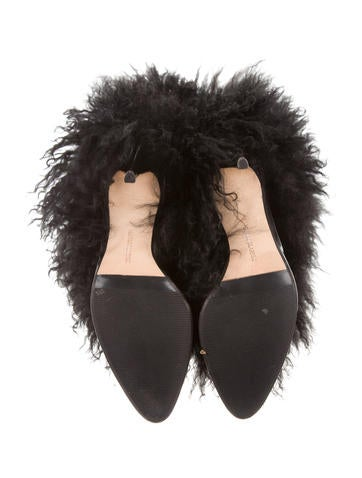 Round-Toe Fur Boots