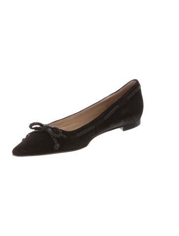 Suede Pointed-Toe Flats