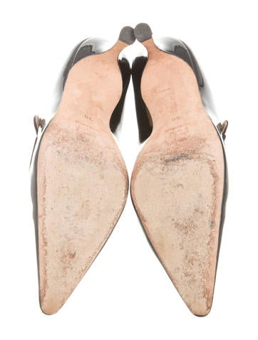 Pointed-Toe Mary Jane Pumps