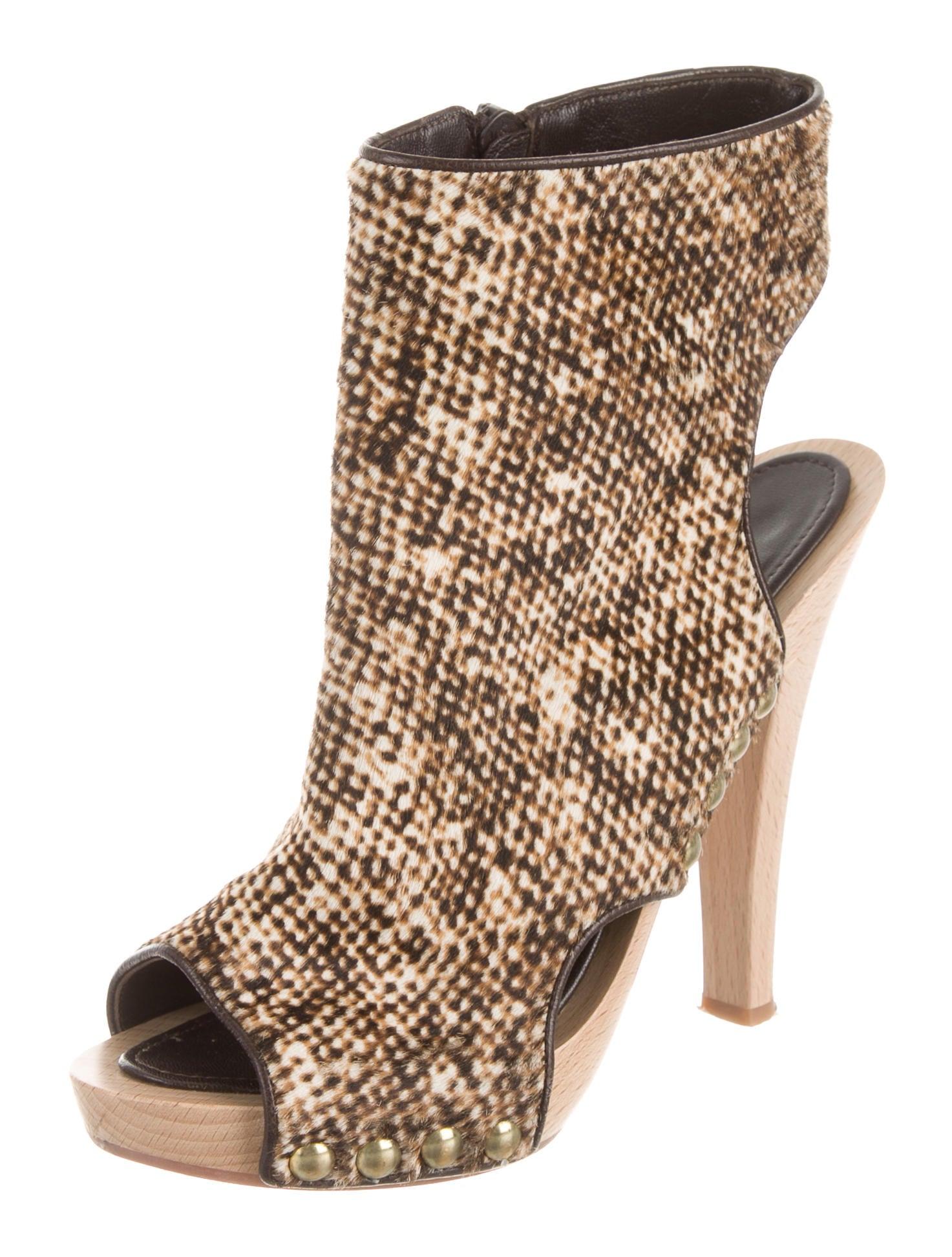 Manolo Blahnik Peep-Toe Ankle Boots - Shoes - MOO41731 ...