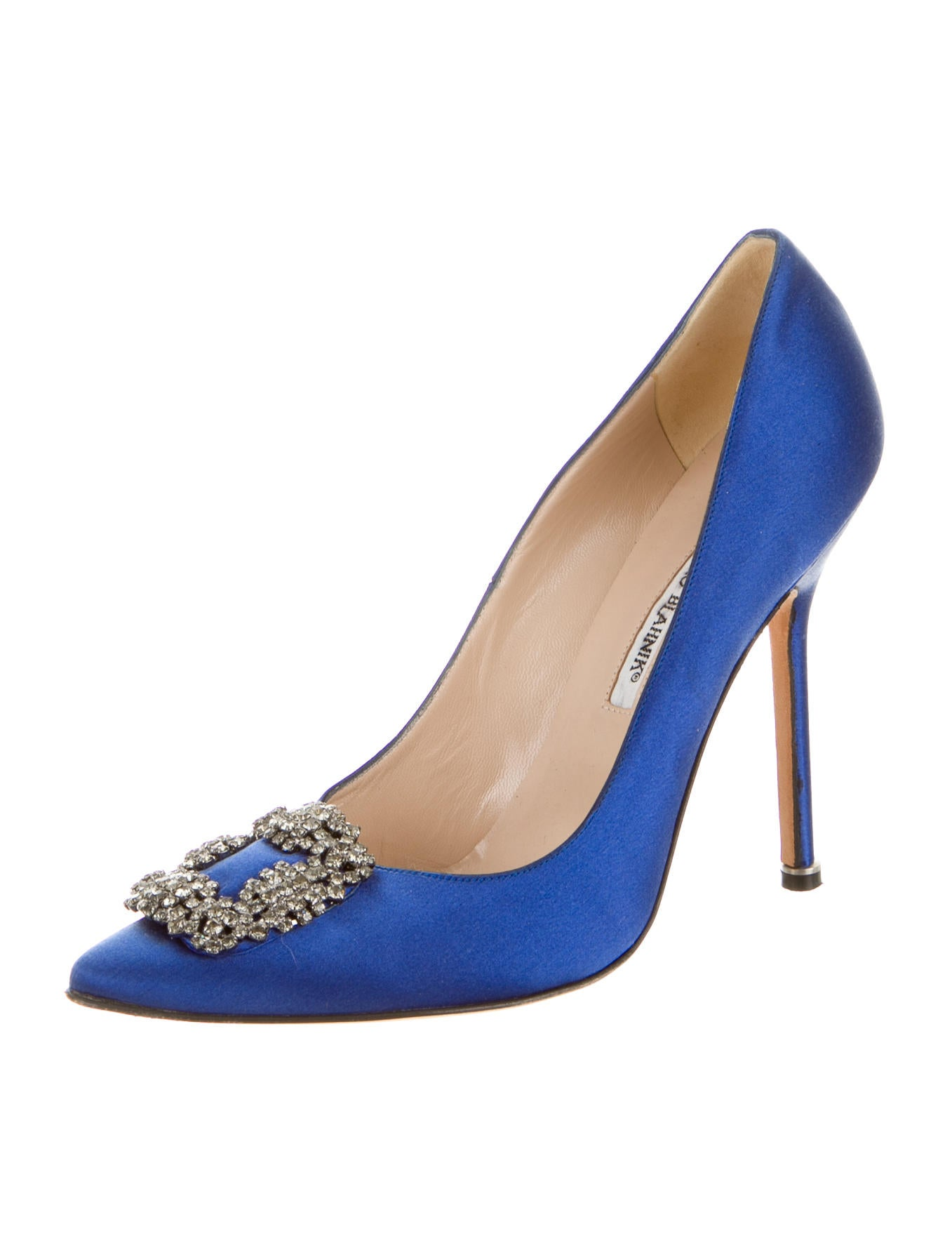 Manolo blahnik satin hangisi pumps shoes moo43805 for Shoes by manolo blahnik