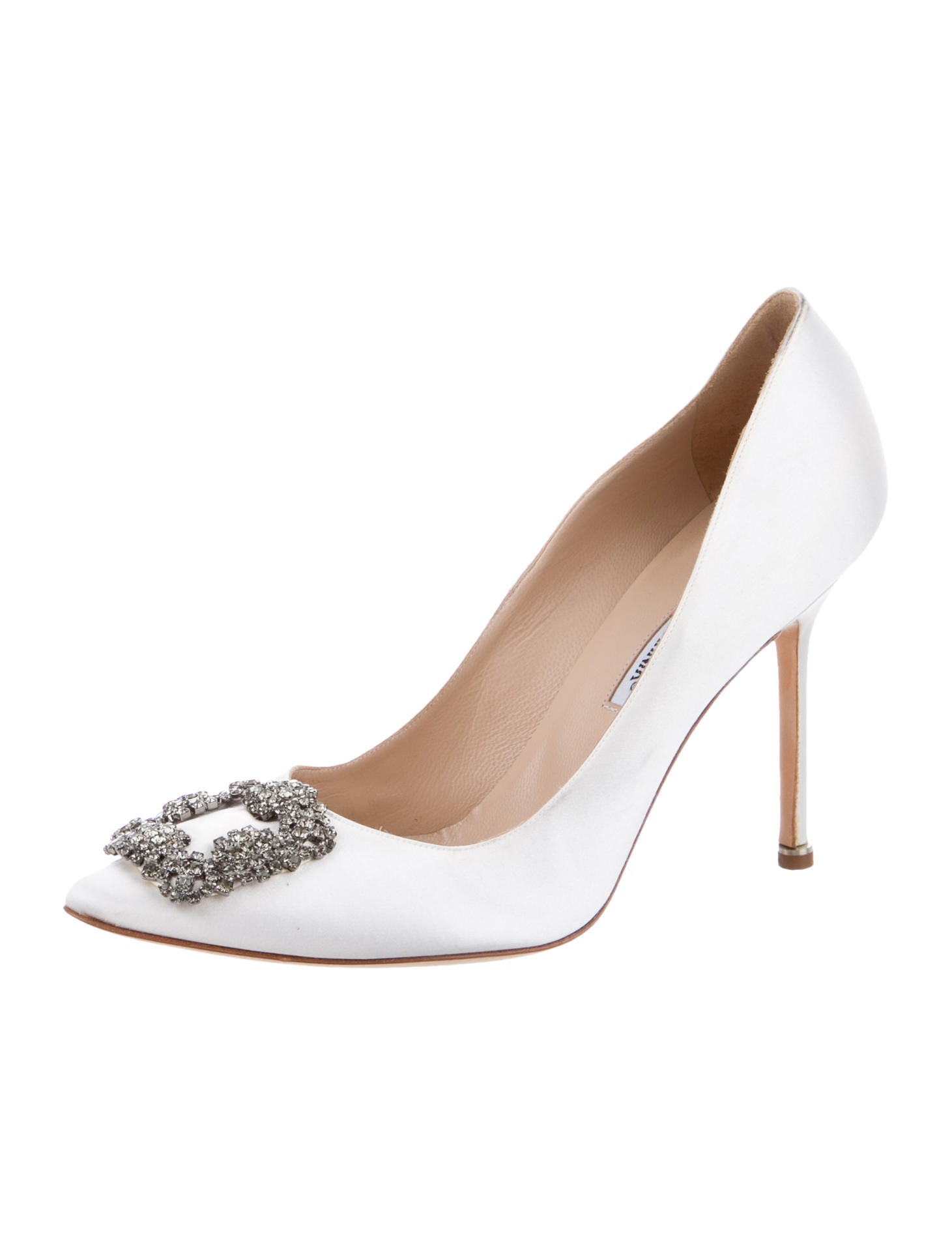 Manolo blahnik satin hangisi pumps shoes moo45110 for Shoes by manolo blahnik