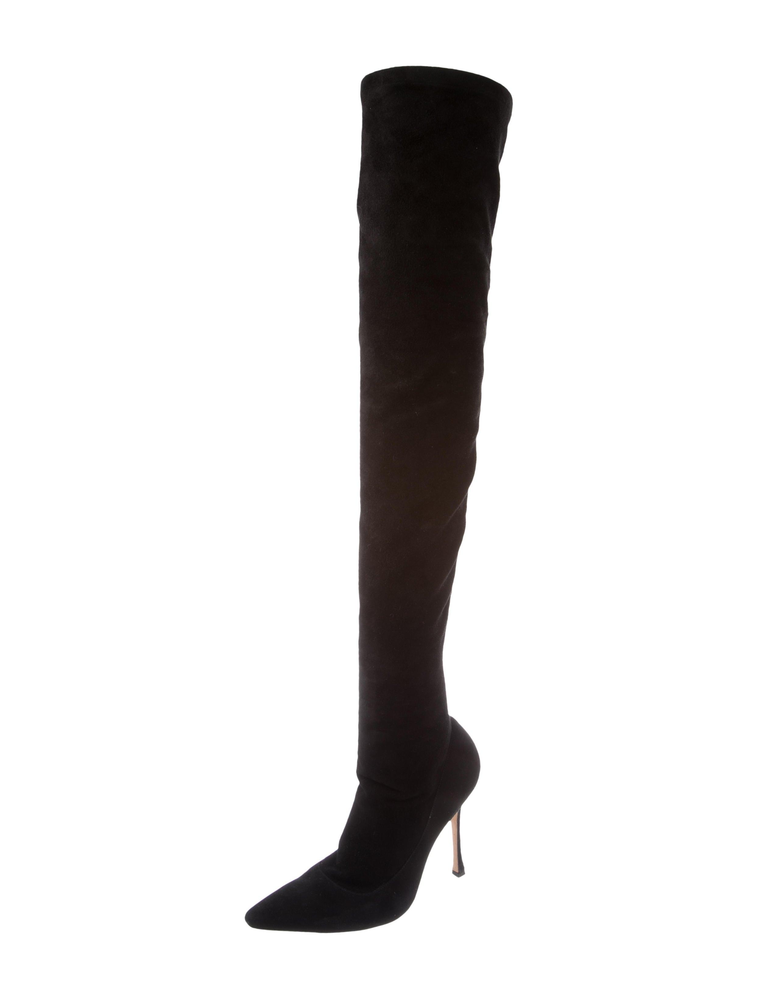 manolo blahnik lattice over the knee boots