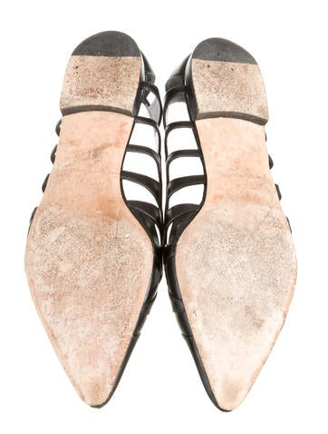 Leather Pointed-Toe Flats