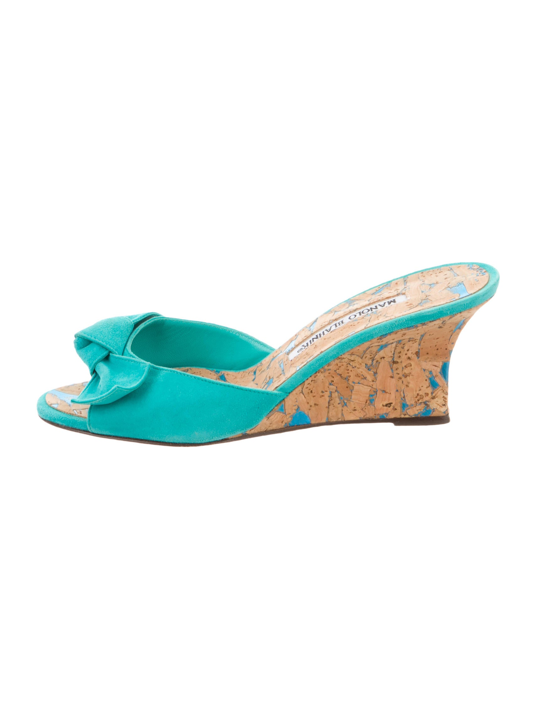 Manolo Blahnik Bow-Accented Slide Sandals for sale wholesale price N1I3bvKJ