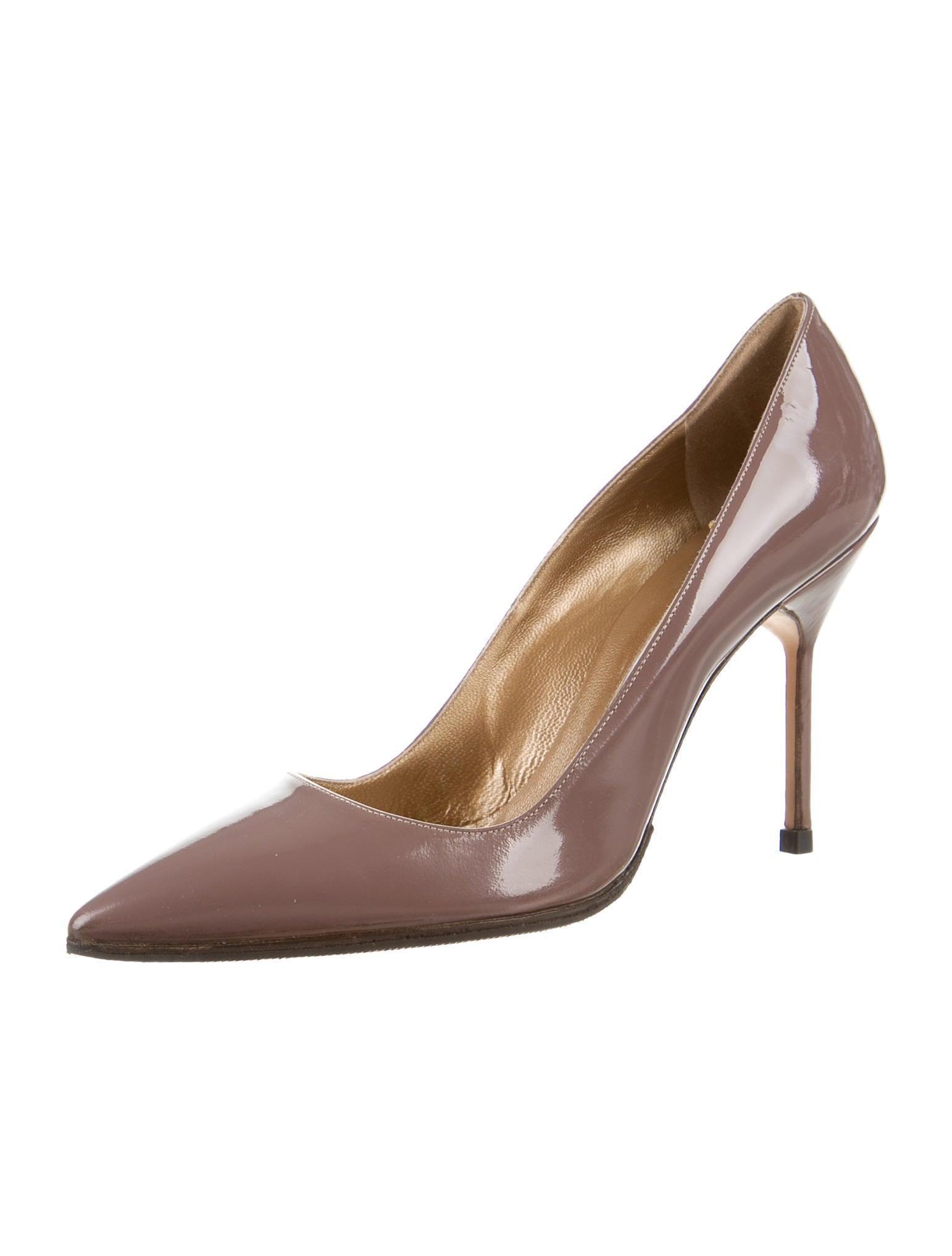 Manolo blahnik patent leather pumps shoes moo51292 for Shoes by manolo blahnik