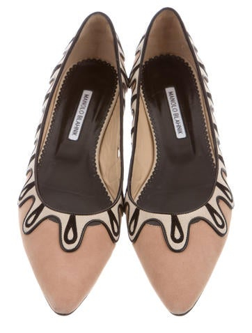 Pointed-Toe Suede Flats