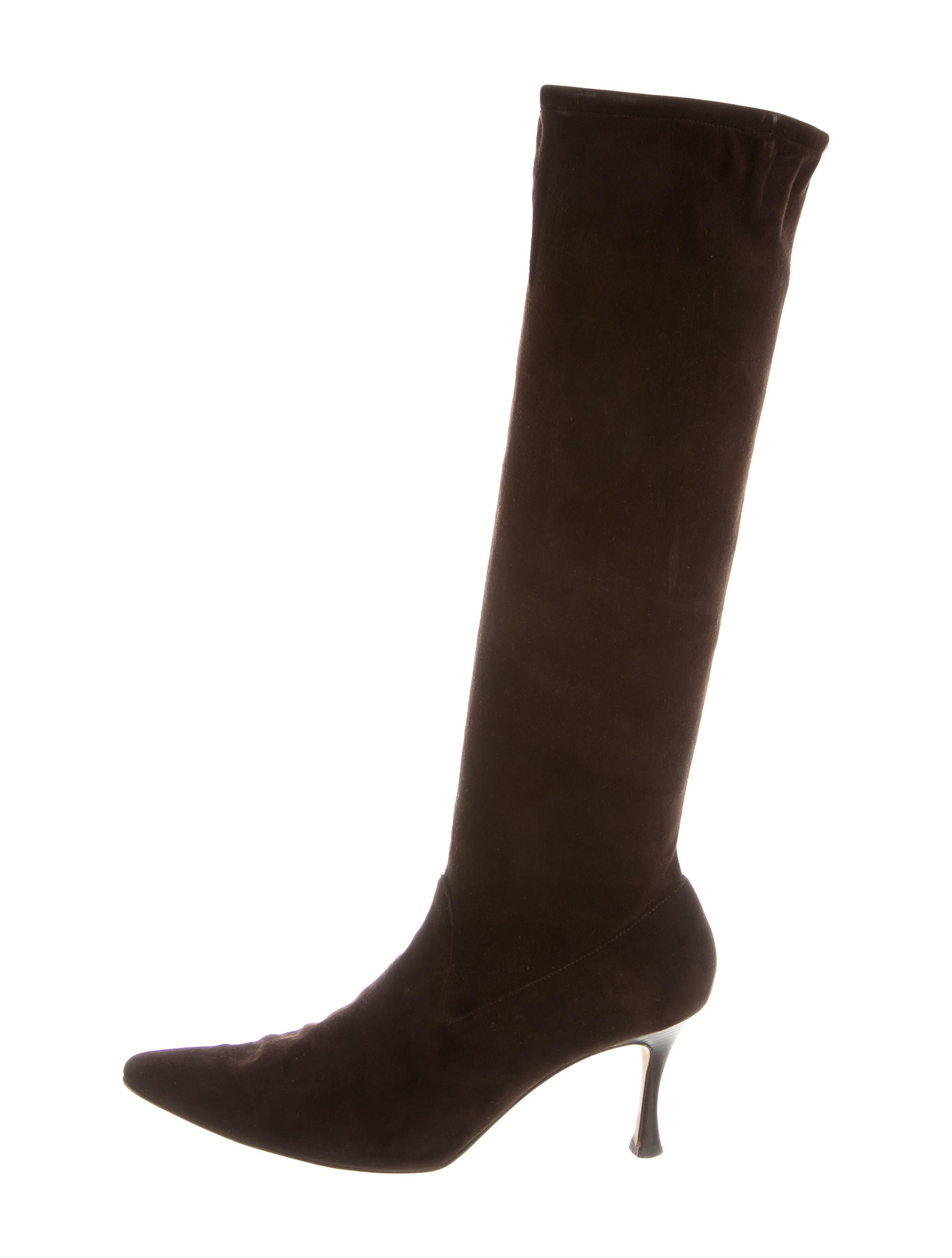manolo blahnik suede knee high boots shoes moo52886