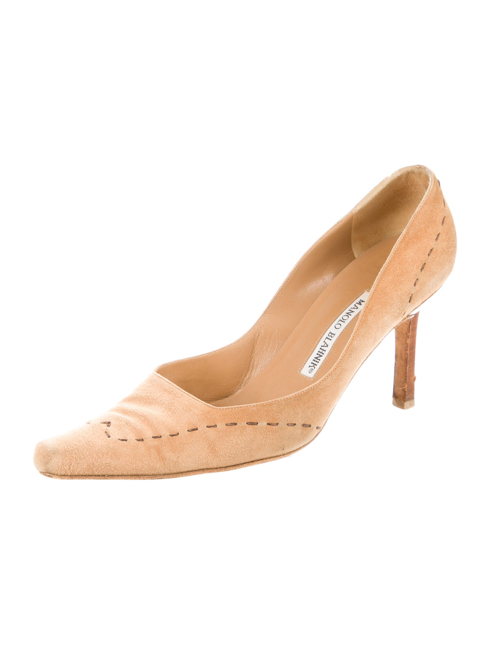 Manolo blahnik suede pointed toe pumps shoes moo54118 for Shoes by manolo blahnik