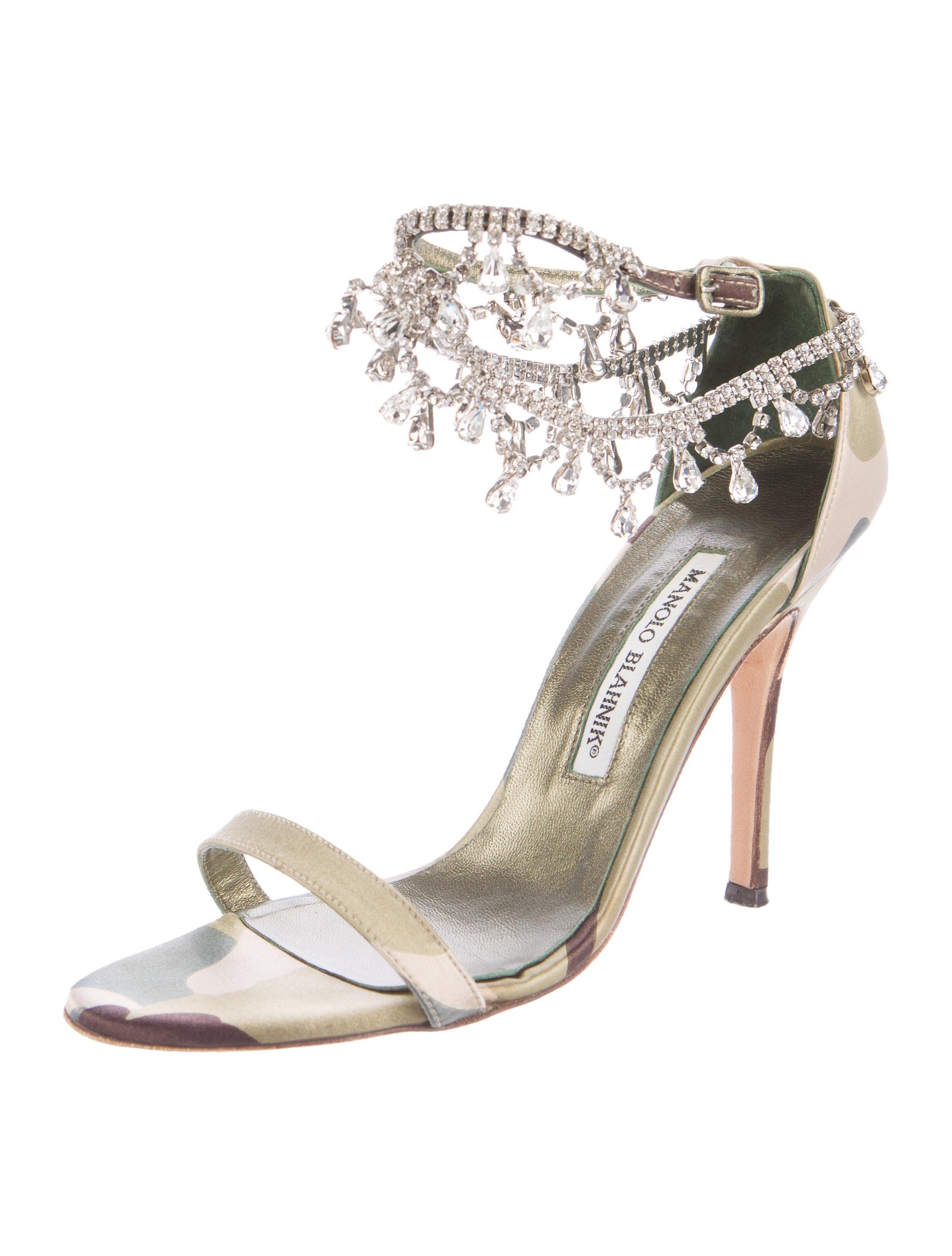 Manolo Blahnik Manolo Blahnik Camo Hourista Sandals order sale online HSXpHoj