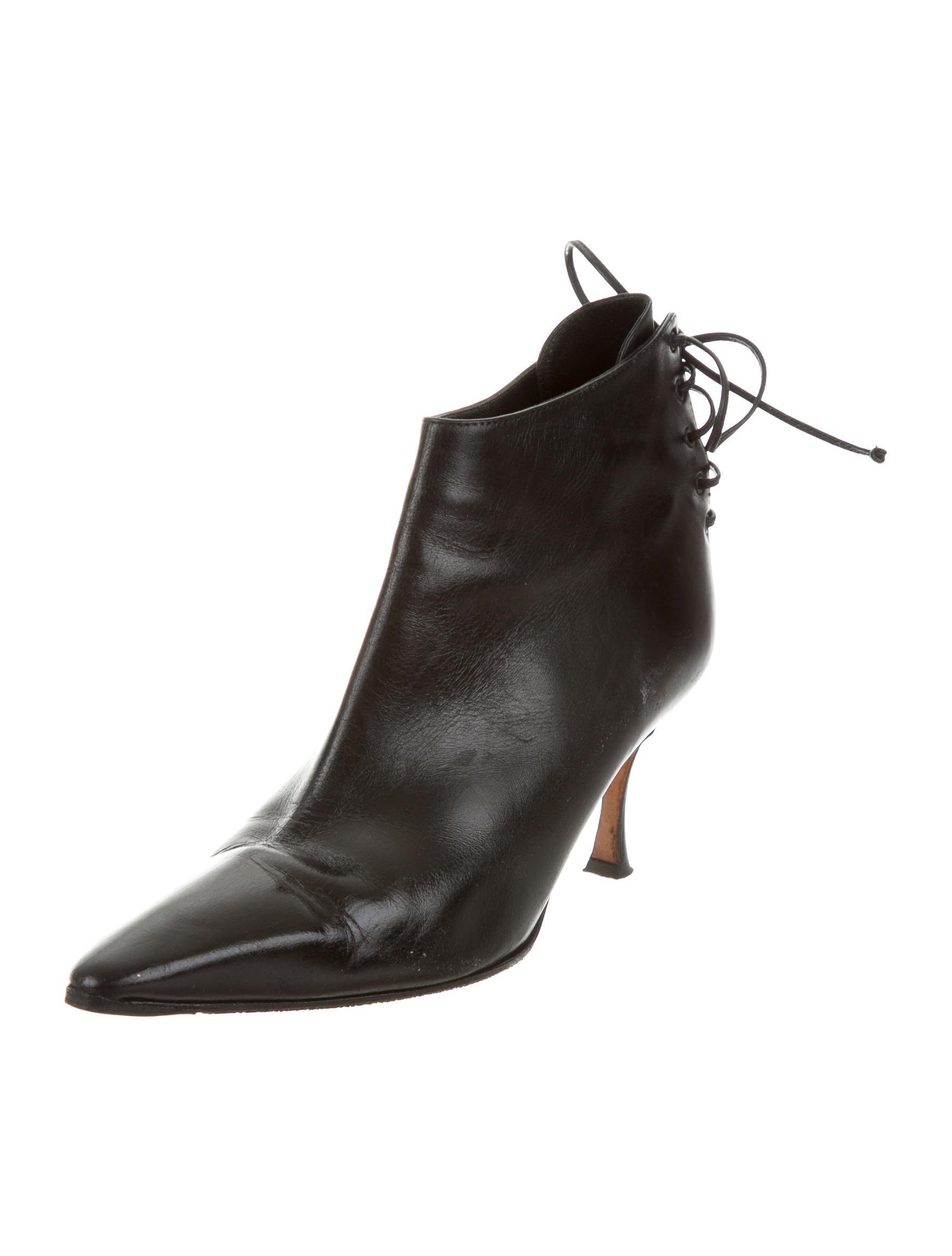 Manolo Blahnik Pointed-Toe Ankle Boots - Shoes - MOO55248 ...