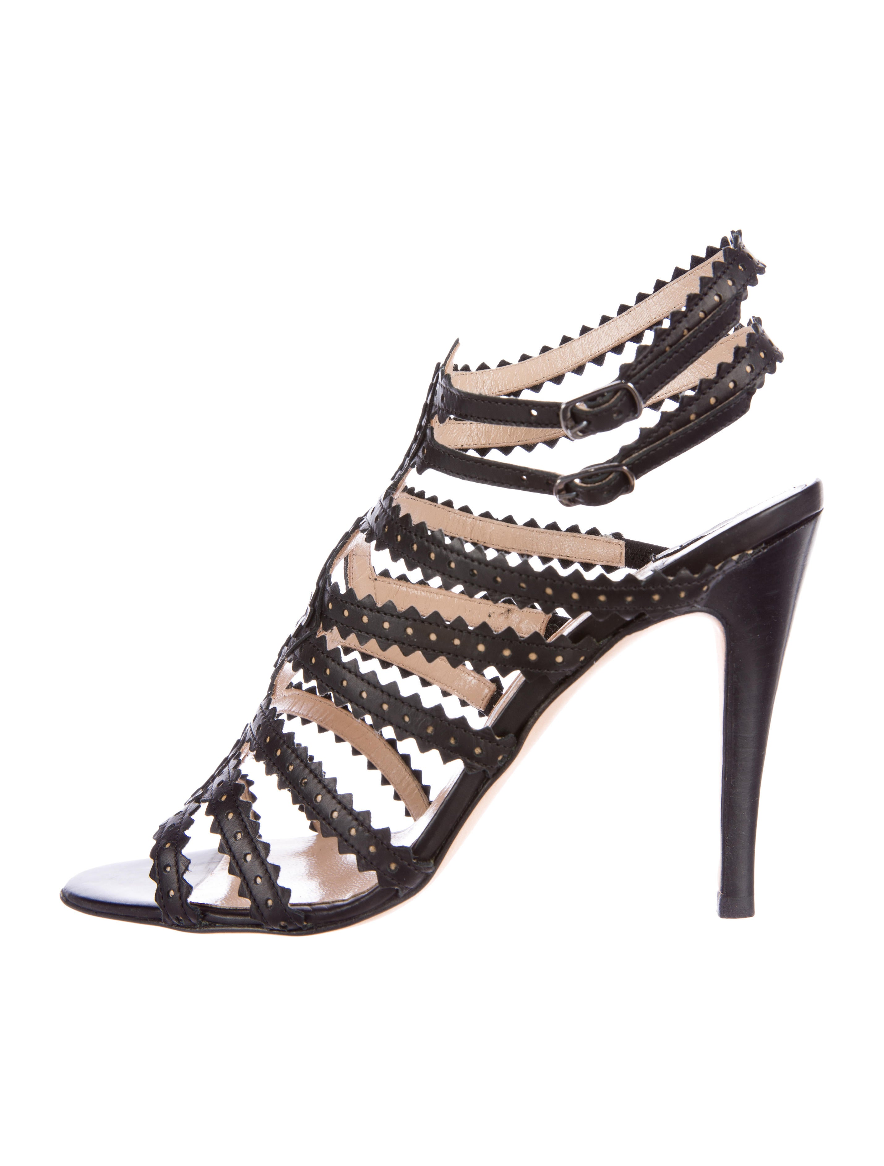 Manolo Blahnik Perforated Cage Sandals sale discounts discount online from china low shipping fee visit new sale online TL89BZiDC