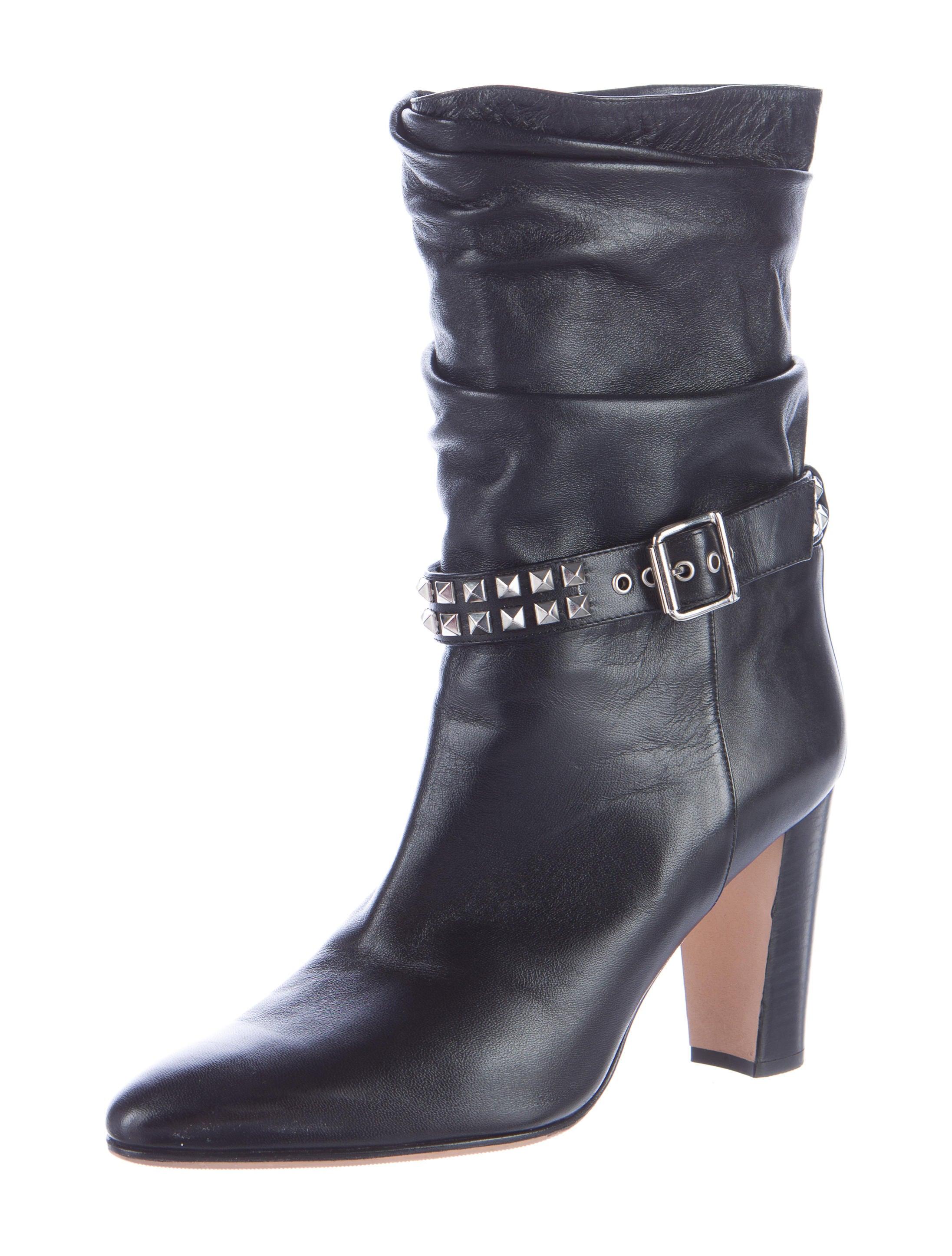Manolo Blahnik Stud-Embellished Ankle Boots - Shoes ...