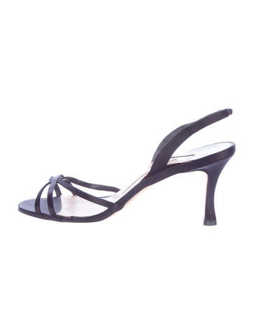 Manolo Blahnik Satin Multistrap Sandals