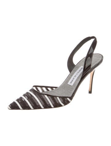 Striped Slingback Sandals