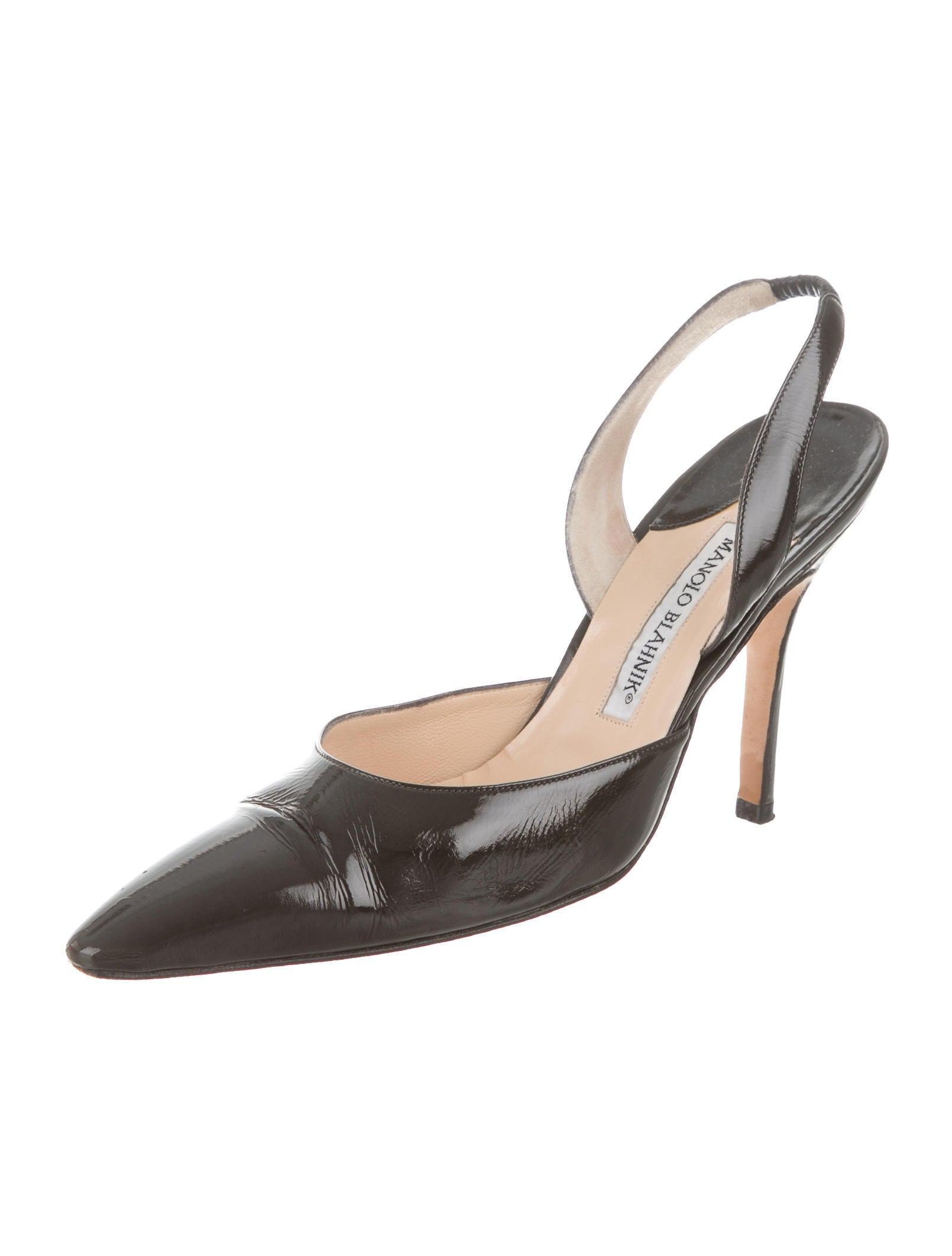 Manolo blahnik carolyne slingback pumps shoes moo60148 for Shoes by manolo blahnik